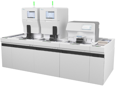 The Clinitek Novus automated urine analyzer from Siemens Healthineers.